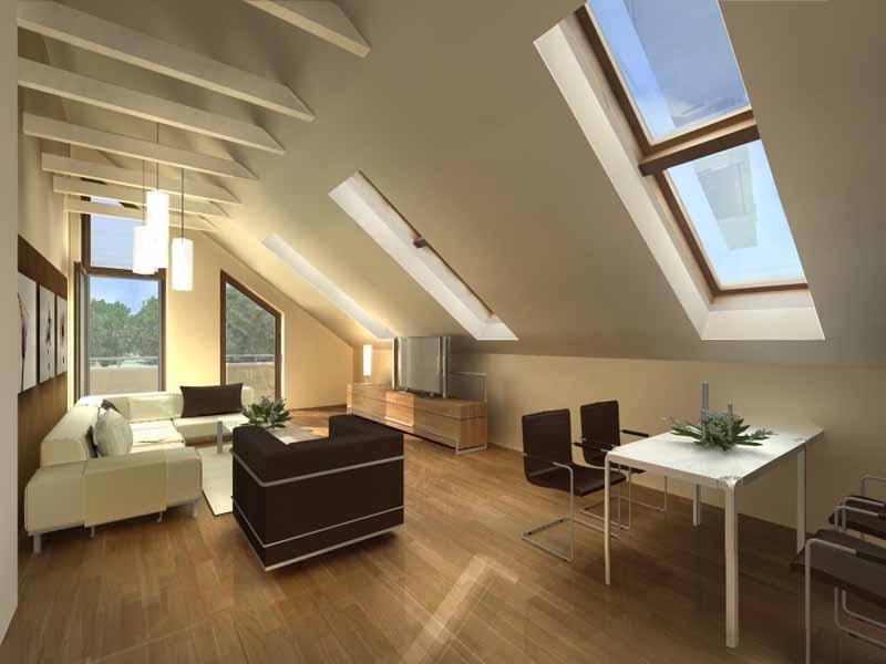 Aranżujemy mieszkanie na poddaszu  Piękne wnętrza  blog o aranżacji wnętrz -> Kuchnia Na Poddaszu Aranżacja Wnetrza